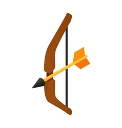 Medieval bow isometric 3d icon vector image
