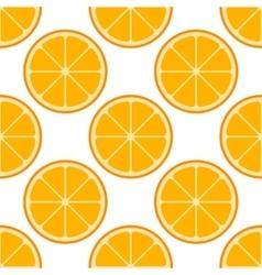 Orange slices seamless pattern vector image vector image
