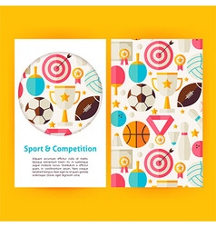 Sport and Competition Banners Set Template vector image vector image