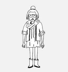 Hipster character people in vector image vector image