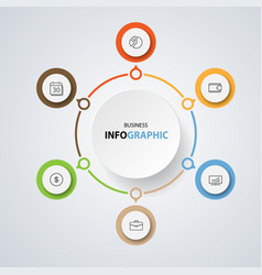 infographics design marketing icons for business vector image