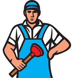 Plumber Icon vector image vector image