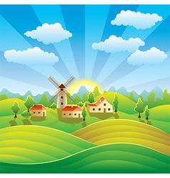 rural scenery vector image vector image