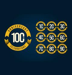 100 years anniversary celebration logo template vector