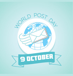 9 october world post day vector
