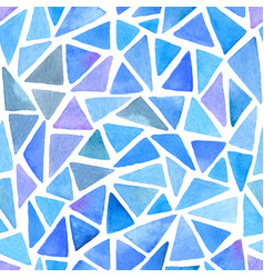 abstract pattern with blue triangles vector image