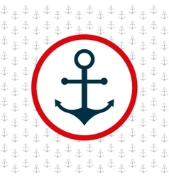 anchor pattern background icon vector image