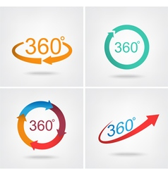Angle 360 degrees sign icon vector image
