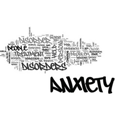 anxiety disorders in children text word cloud vector image