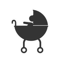 baby pram pictogram icon vector image