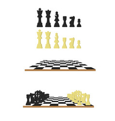 Black and white chess chessboard in flat style vector