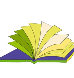 Book The loose pages of an open book vector