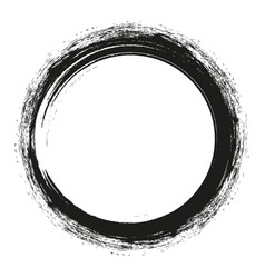 Brush strokes circles of paint on white vector