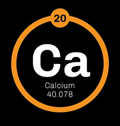 Calcium chemical element vector image