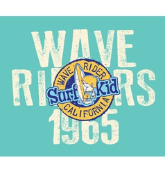 CAlifornia wave rider vector image