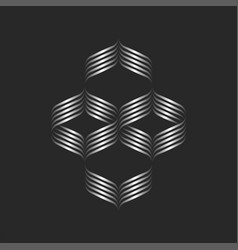 calligraphic pattern logo intertwining vector image