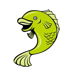 cartoonfish vector image