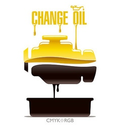 Change Engine Oil vector