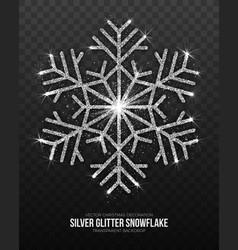 christmas decoration silver snowflake vector image