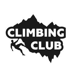 Climbing club emblem vector