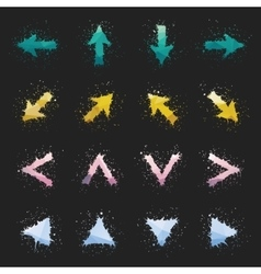 Colorful Grunge Arrows vector
