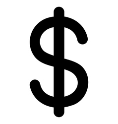 Dollar Stroke Icon vector image