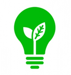 Ecology bulb icon vector