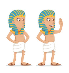 egyptian character salute hand greeting icon vector image
