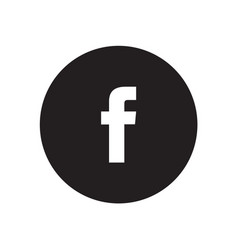 facebook icon vector image