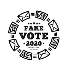 fake vote 2020 methodology for possible election vector image