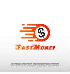 Fast money logo concept financial icon dollar vector