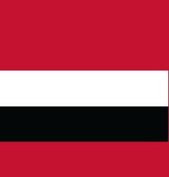 flag republic yemen vector image