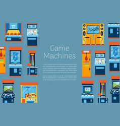 Game machine arcade gambling vector