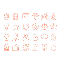 gamification symbols business achievements rules vector image