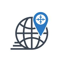 geo targeting glyph icon vector image