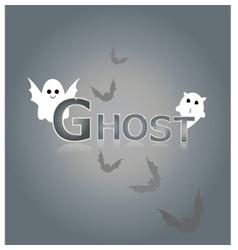 Ghost design background vector
