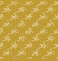 golden fir branches decor seamless pattern vector image