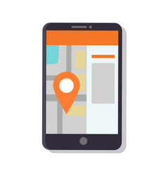gps navigation map in phone vector image