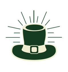 Green hat accessory st patrick vector