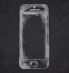 Handdrawn sketch of mobile phone front on vector image