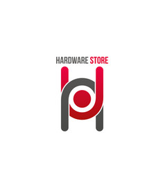 Hardware store icon vector