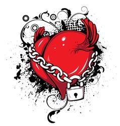 heart emblem vector image