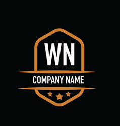 Initial letter wn vintage logo concept graphic vector