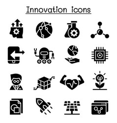 innovation technology icon set vector image