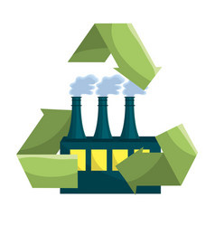 Isolated eco factory design vector