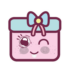 Kawaii funny and cute gift design vector