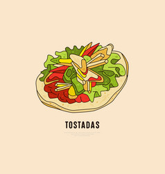 label design for mexican food restaurant vector image