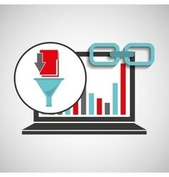 Laptop graphs analysis file link web vector