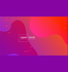 liquid color abstract geometric shapes vector image