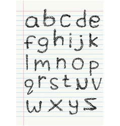 lower case scribble alphabet o vector image
